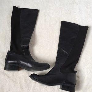 Nine West Vintage America Black Riding Boots 7M